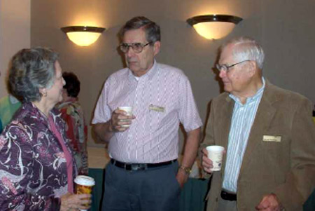 <i>In the Audience, Left to Right: <br>Martha Russell,  John Minck, Cort Van Rensselaer</i>